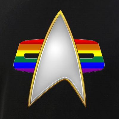 LGBTQ Pride Flag VOY Combadge
