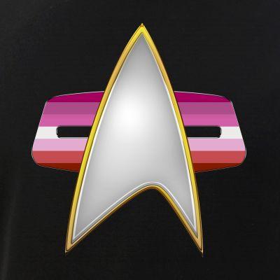 Lipstick Lesbian Pride Flag VOY Combadge