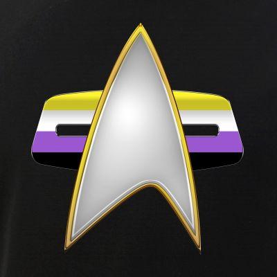 Nonbinary Pride Flag VOY Combadge