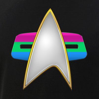 Polysexual Pride Flag VOY Combadge