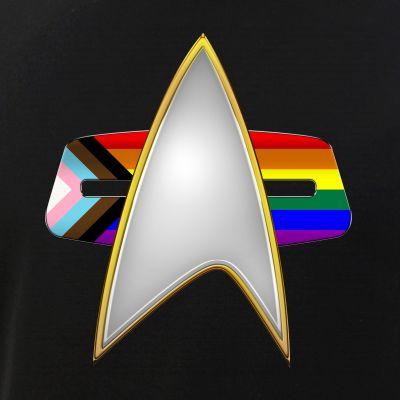 Progress LGBTQ Pride Flag VOY Combadge