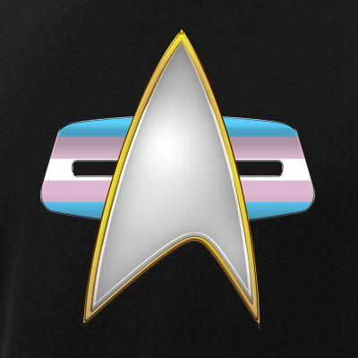 Transgender Pride Flag VOY Combadge