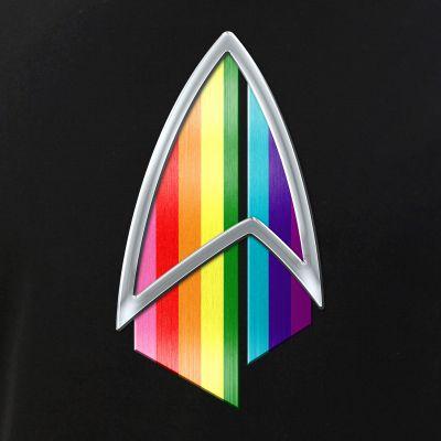 Original LGBTQ Gay Pride Flag PIC Combadge
