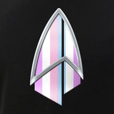 Bigender Pride Flag PIC Combadge