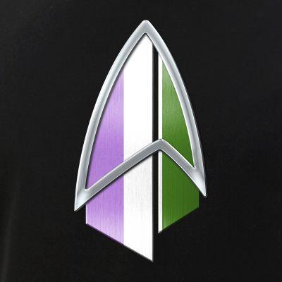 Genderqueer Pride Flag PIC Combadge