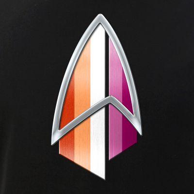 Lesbian Pride Flag PIC Combadge