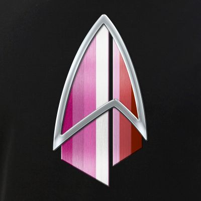 Lipstick Lesbian Pride Flag PIC Combadge