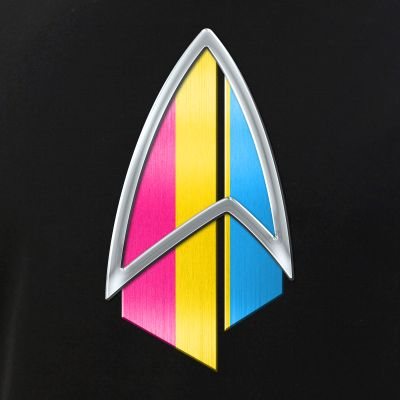 Pansexual Pride Flag PIC Combadge
