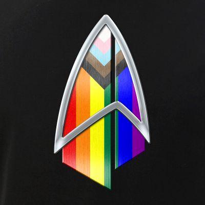 LGBTQ Progress Pride Flag PIC Combadge