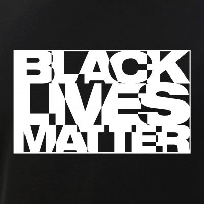 Black Live Matter Chaotic Typography