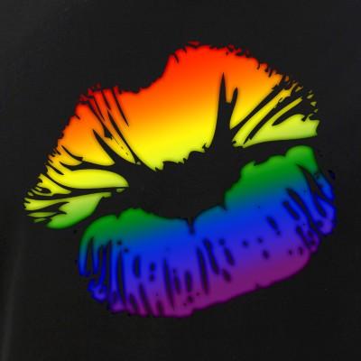 LGBT Love Rainbow Pride Kissing Lips