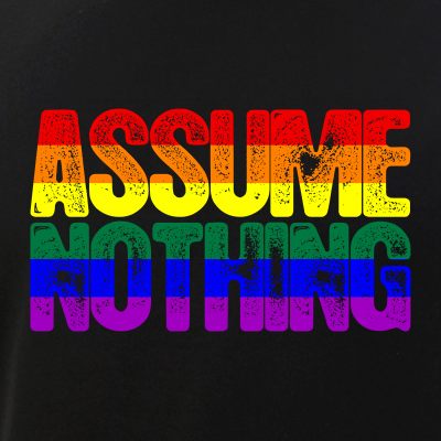 Assume Nothing Rainbow Gay Pride Flag