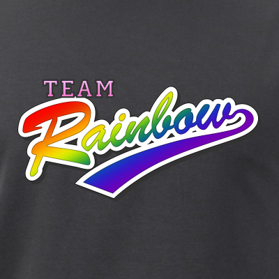 Team Rainbow LGBT Gay Pride