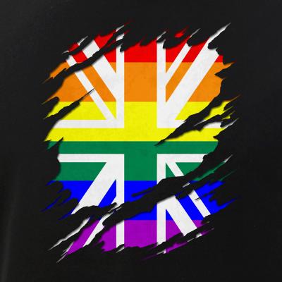 Rainbow Union Jack Ripped Reveal