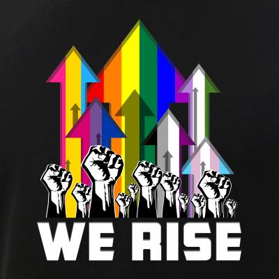 We Rise LGBTQIA Pride Flags