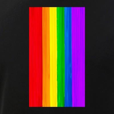 LGBTQ Pride Flag Paint Strokes