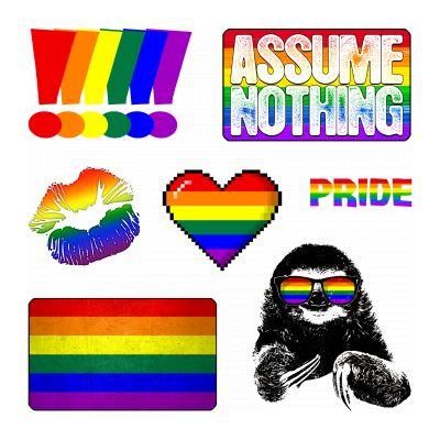 LGBTQ Rainbow Pride Flag Sticker Set