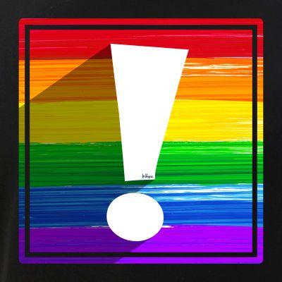 LGBTQ Pride Flag Exclamation Point Shadow