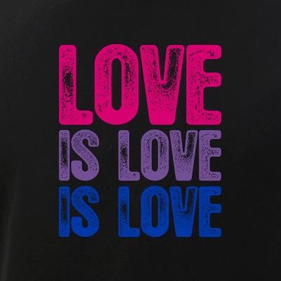 Love is Love is Love Bisexual Pride