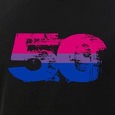 Bisexual Grunge 50 Pride Flag