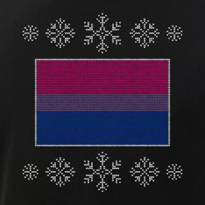 Ugly Christmas Bisexual Pride Flag Design