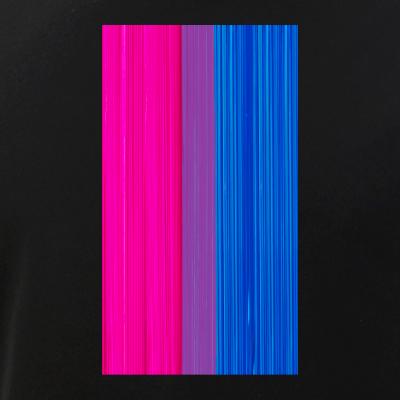 Bisexual Pride Flag Paint Strokes