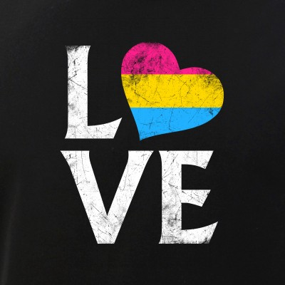 Pansexual Pride Flag Heart Stacked Love