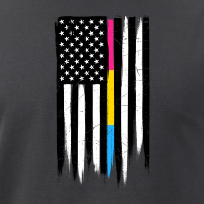 Pansexual Pride Thin Line American Flag