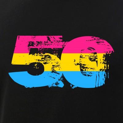 Pansexual Grunge 50 Pride Flag