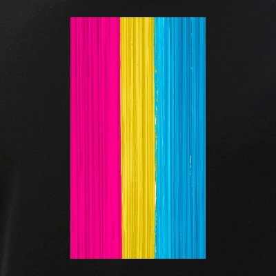 Pansexual Pride Flag Paint Strokes