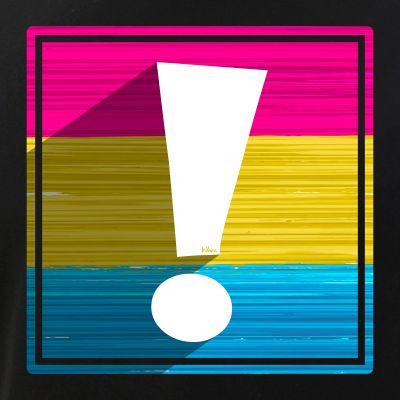 Pansexual Pride Flag Exclamation Point Shadow