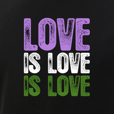 Love is Love is Love Genderqueer Pride