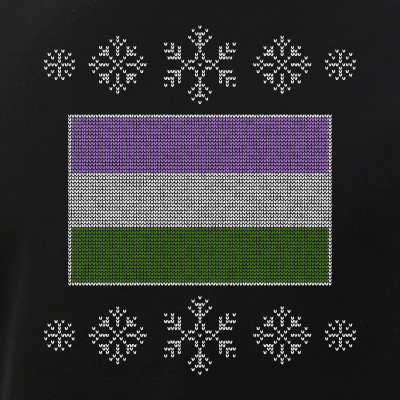 Ugly Christmas Genderqueer Pride Flag Design