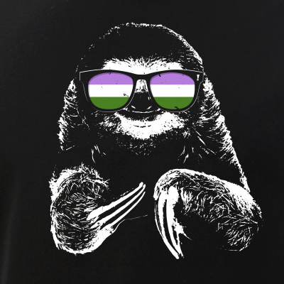 Pride Sloth Genderqueer Flag Sunglasses