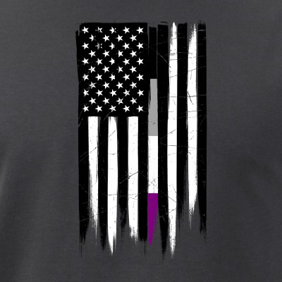 Asexual Pride Thin Line American Flag
