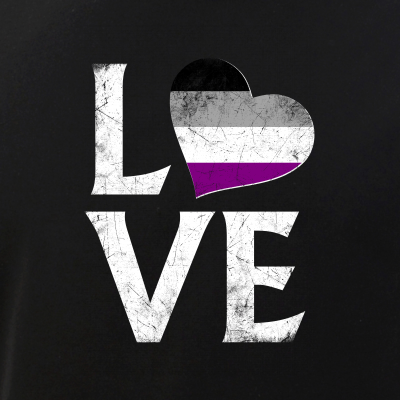 Asexual Pride Flag Heart Stacked Love