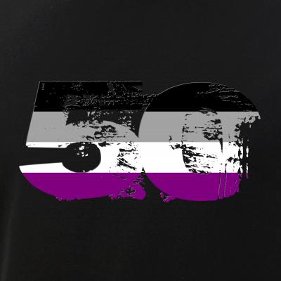 Asexual Grunge 50 Pride Flag