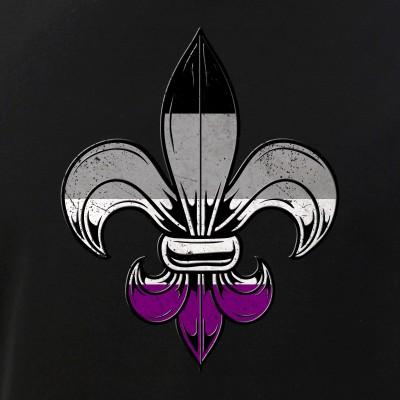 Asexual Pride Flag Fleur de Lis
