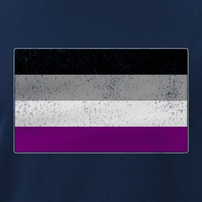 Distressed Asexual Pride Flag