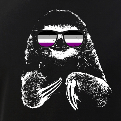 Pride Sloth Asexual Flag Sunglasses