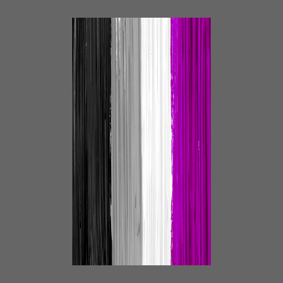 Asexual Pride Flag Paint Strokes