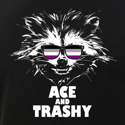 Ace and Trashy Raccoon Sunglasses Asexual Pride