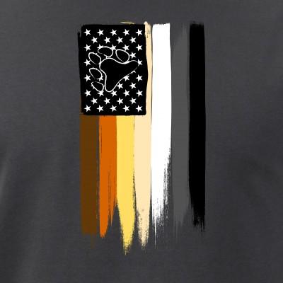 Gay Bear Pride American Flag