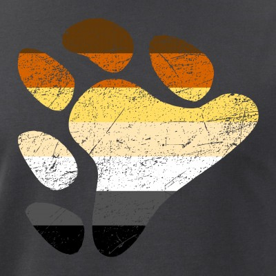 Gay Bear Pride Flag Claw Print