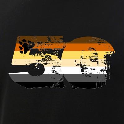 Gay Bear Grunge 50 Pride Flag