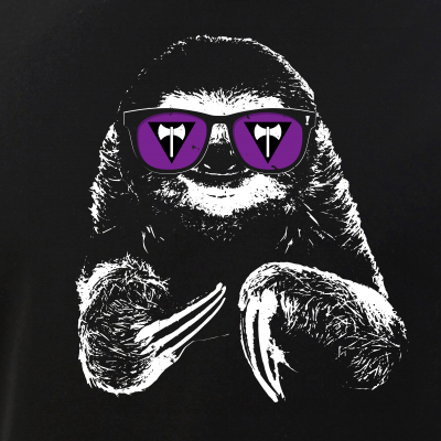 Pride Sloth Lesbian Labrys Flag Sunglasses