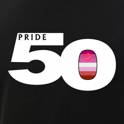 Pride 50 Lipstick Lesbian Pride Flag