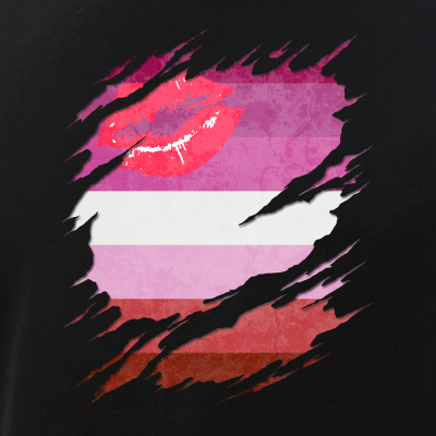 Lipstick Lesbian Pride Flag Ripped