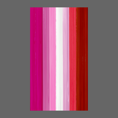 Lipstick Lesbian Pride Flag Paint Strokes