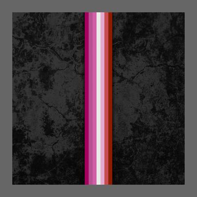 Lipstick Lesbian Pride Flag Stripe